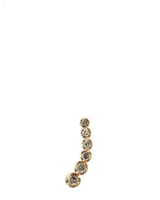 Annoushka   Metallic Dusty Diamonds 18ct Rose-gold And Diamond Left Ear Pin   Lyst