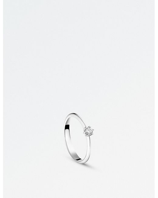 BUCHERER JEWELLERY | Solitaire Heaven 18ct White Gold And Diamond Ring | Lyst