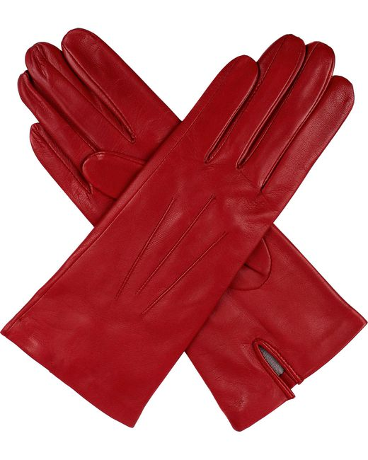 Dents - Pink Hand-Sewn Silk-Lined Leather Gloves - For Women - Lyst