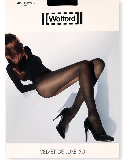 Wolford | Black Velvet De Luxe 50 Nylon-blend Tights | Lyst