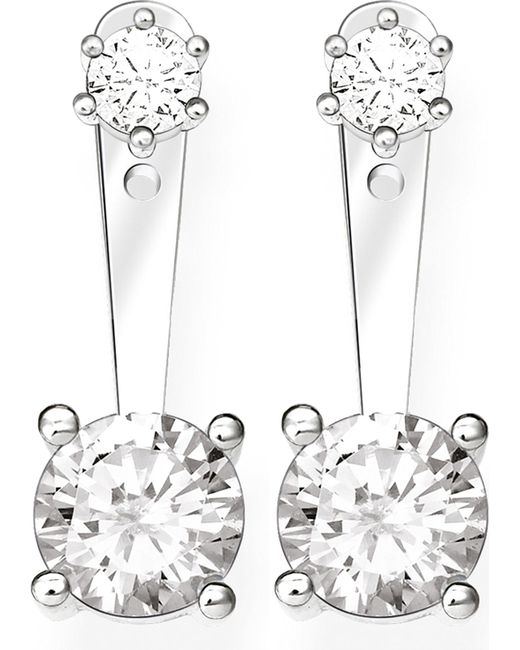 Thomas Sabo - Metallic Glam & Soul Sterling Silver And White Zirconia Earrings - Lyst