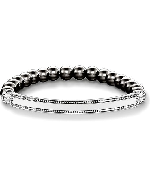 Thomas Sabo | Metallic Love Bridge Haematite And Silver Bracelet | Lyst