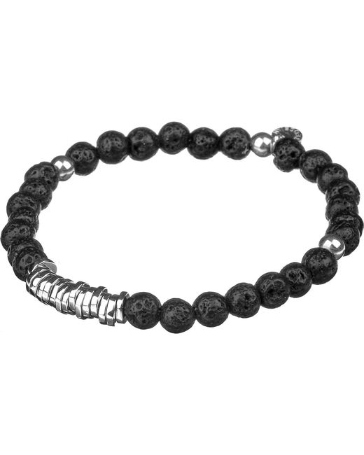 Tateossian - Metallic Silver Disc Beaded Bracelet for Men - Lyst