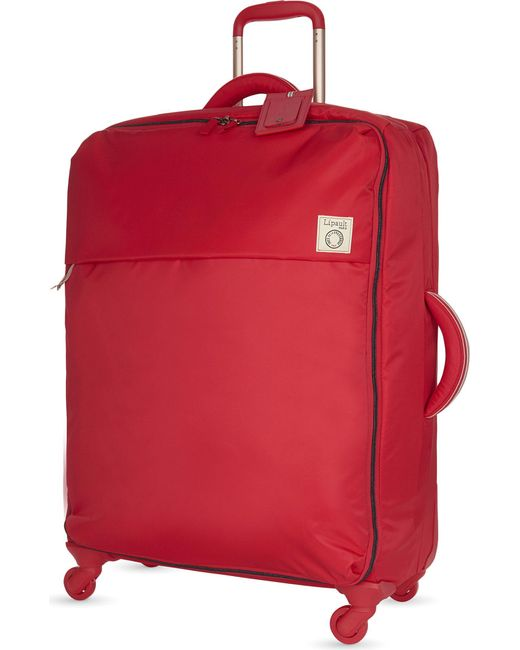 Lipault | Red Inès De La Fressange Four-wheel Suitcase 72cm for Men | Lyst