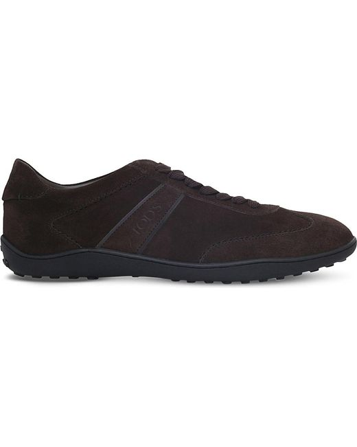 Tod's | Brown Lo Pro Suede Trainers for Men | Lyst