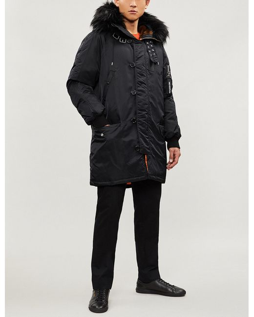 13dc2872498 The Kooples Padded Shell Parka Coat in Black for Men - Lyst