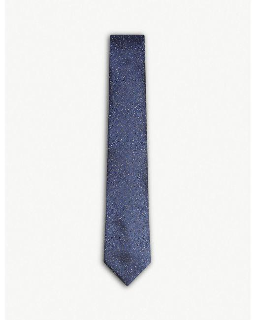 Lanvin - Blue Speckled Dot Silk Tie for Men - Lyst