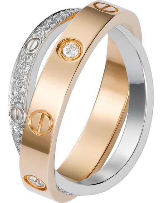 Cartier - White Love 18ct Pink-gold - Lyst