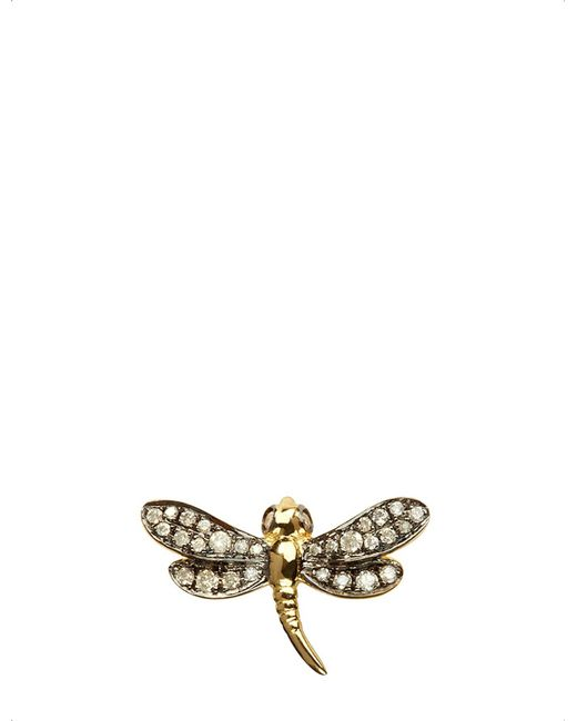 Annoushka | Multicolor Love Diamonds Dragonfly Right Earring | Lyst