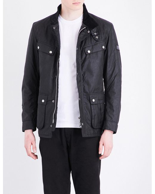 Barbour | Black Duke Waxed-cotton Jacket for Men | Lyst