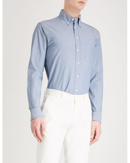 651493d8e81 Lyst - Eton of Sweden Slim-fit Cotton Oxford Shirt in Blue for Men