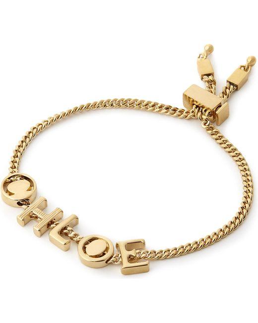 Chloé | Metallic Letter Charm Bracelet | Lyst