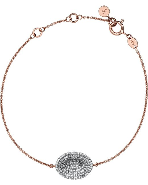 Links of London | Metallic Concave Rose Gold And Diamond Bracelet | Lyst