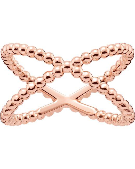 Thomas Sabo - Metallic Criss-cross Dot 18ct Rose Gold-plated Ring - Lyst