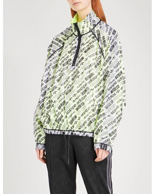 Alexander Wang - Multicolor Logo-print Sports Mesh Shell Coat - Lyst