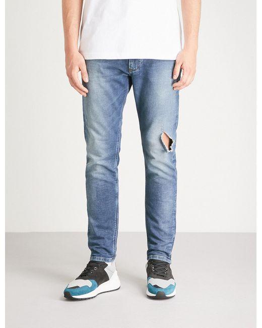 5d5131f6 DIESEL Krooley-ne Regular-fit Skinny Sweat Jeans in Blue for Men - Lyst