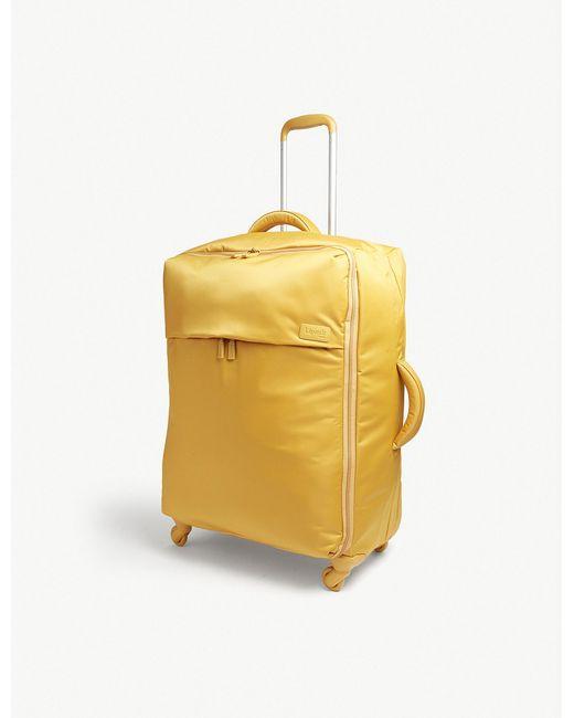 Lipault - Yellow Originale Plume Four-wheel Suitcase 72cm for Men - Lyst