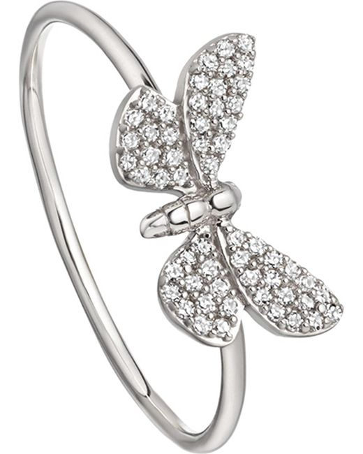 Astley Clarke - Metallic Cinnabar Papillon 14ct White-gold And Diamond Ring - Lyst