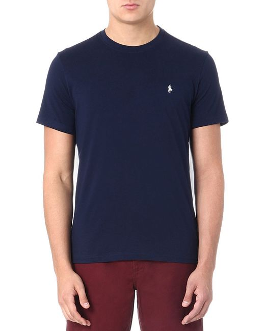 Polo Ralph Lauren | Blue Cotton Jersey V-neck Tee for Men | Lyst