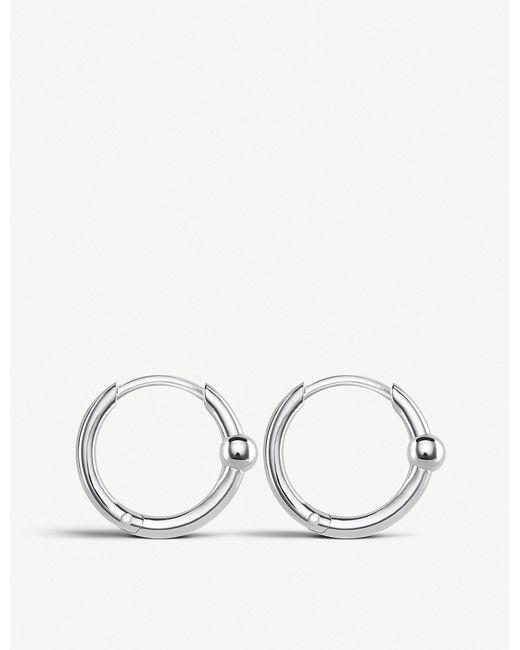 Thomas Sabo - Metallic Mini Bead Sterling Silver Hoops - Lyst