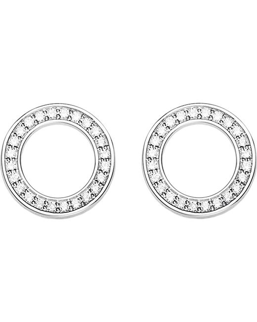 Thomas Sabo - Metallic Circle Sterling Silver And Zirconia Earrings - Lyst
