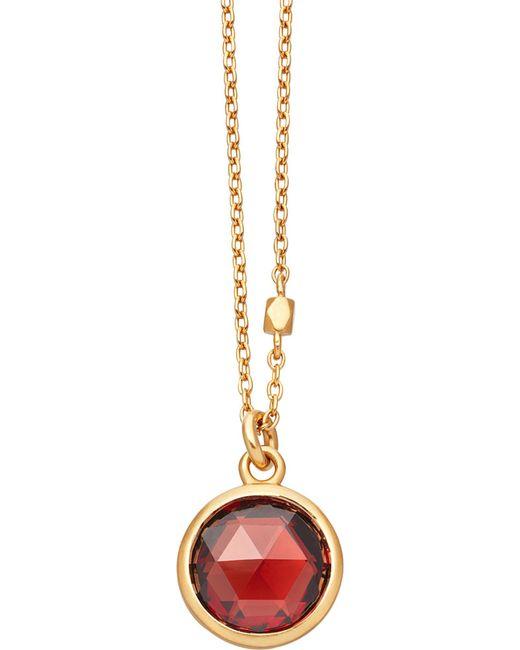 Astley Clarke - Metallic Stilla 18ct Gold-plated Garnet Pendant Necklace - Lyst