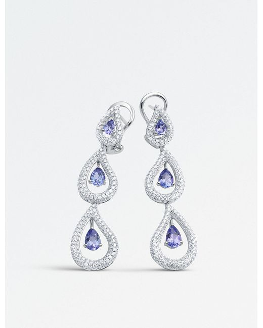 BUCHERER JEWELLERY - 18k White-gold And Diamond Earrings - Lyst