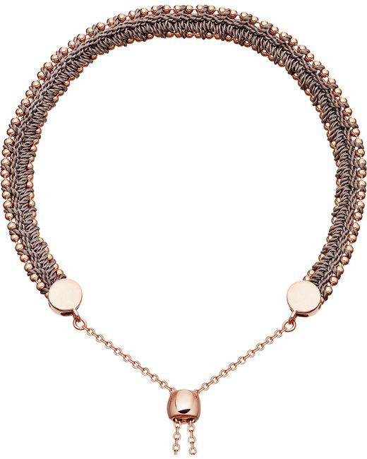 Astley Clarke - Metallic Kula Biography 18ct Rose-gold Thundercloud Woven Bracelet - Lyst
