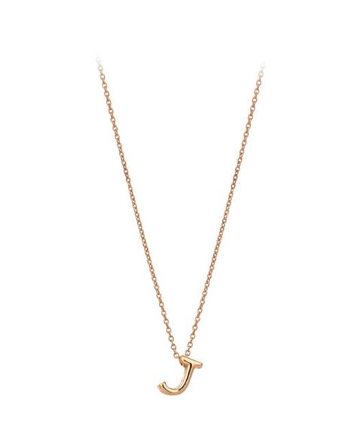 The Alkemistry   Metallic Kismet By Milka 14ct Rose-gold Initial J Necklace   Lyst
