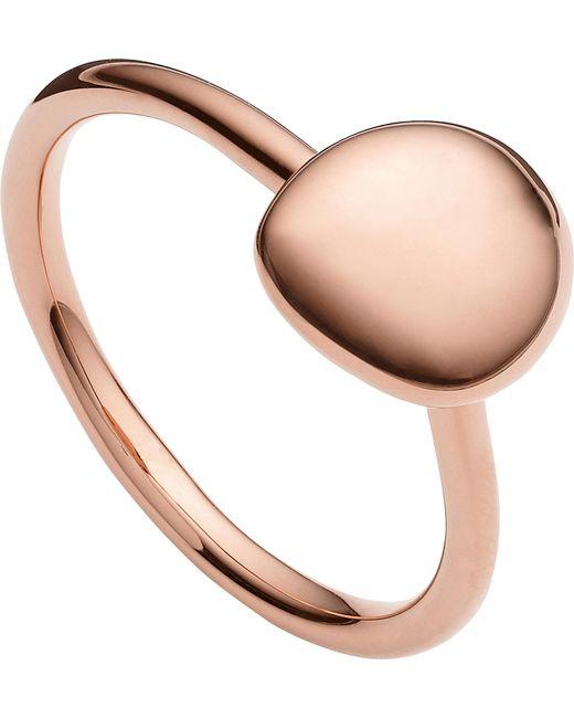 Monica Vinader - Metallic Nura 18ct Rose Gold Vermeil Stacking Ring - Lyst