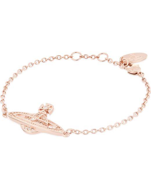 Vivienne Westwood | Metallic Mini Bas Relief Diamante Orb Bracelet | Lyst