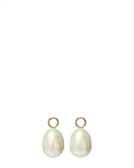 Annoushka - Classic Baroque 18ct Yellow Gold And Pearl Earring Drops - Lyst