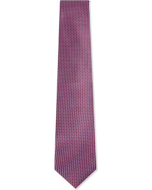 Corneliani   Pink Geometric Silk Tie for Men   Lyst