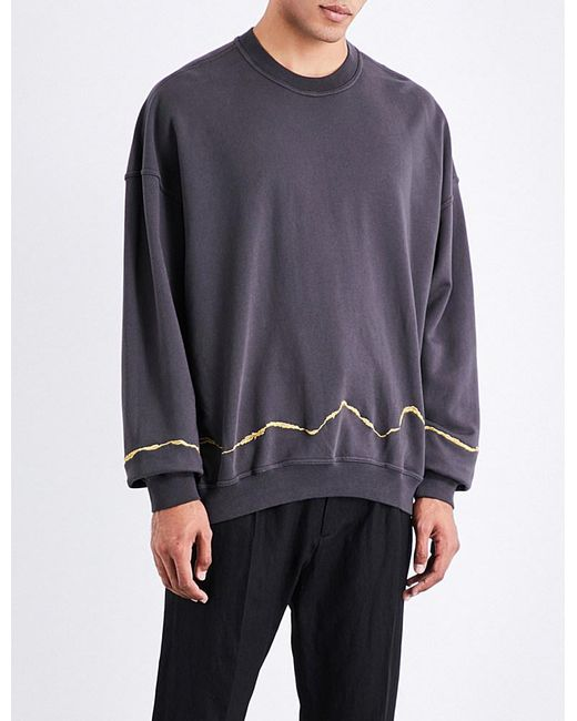 31a2f60242e Haider Ackermann | Gray Metallic-embroidered Cotton-jersey Sweatshirt for  Men | Lyst