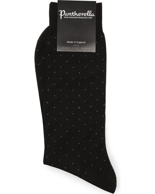 Pantherella - Black Pin-dot Cotton-blend Socks for Men - Lyst