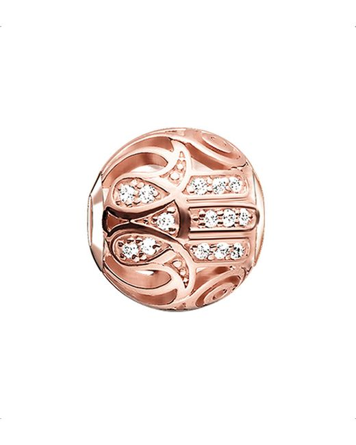 Thomas Sabo | Metallic Karma Beads Fatima's Hand 18ct Rose Gold-plated Bead | Lyst