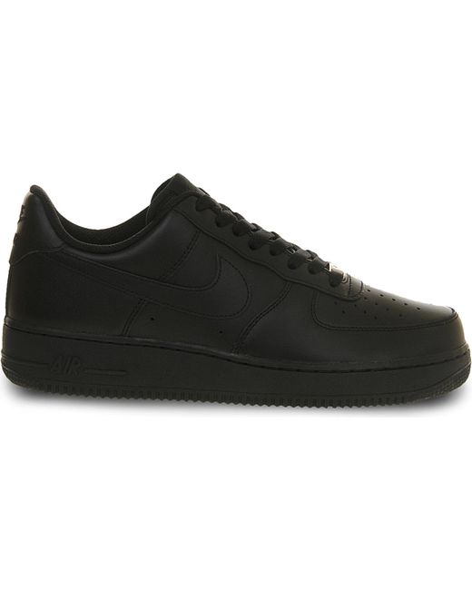 Nike | Black Air Force One Low Top Trainers for Men | Lyst