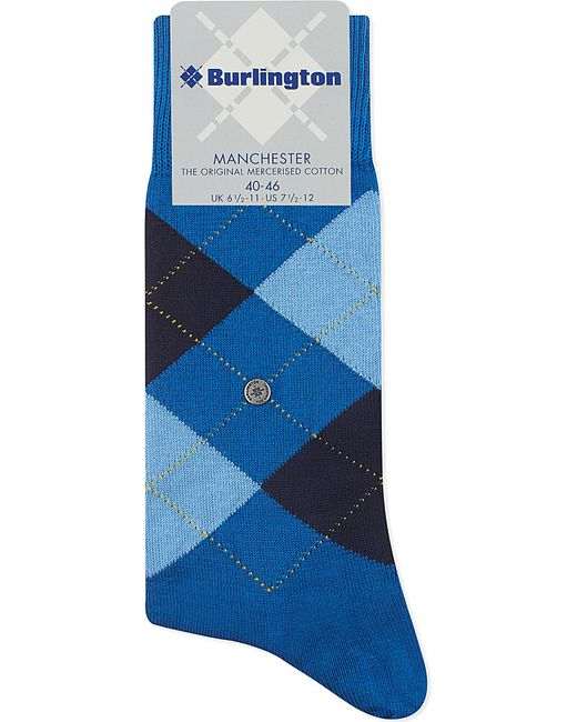 Smythson | 3-pair Pack Of Manchester Blue & Pink Check Socks for Men | Lyst