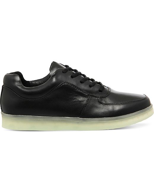 Irregular Choice | Black State Of Flux Light-up Leather Trainers for Men | Lyst