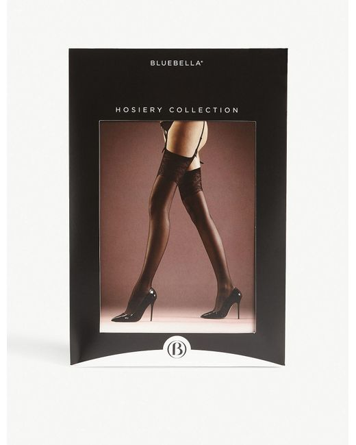 Bluebella - Black Lace Top Stockings - Lyst