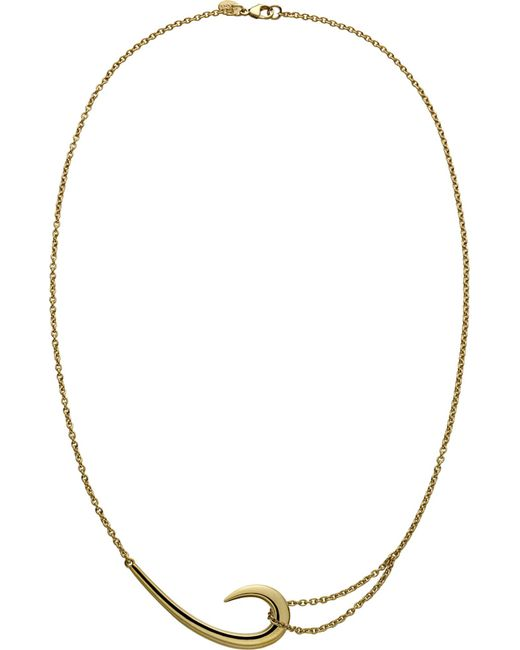 Shaun Leane - Black Sterling Silver And Gold-plate Hook Necklace - Lyst