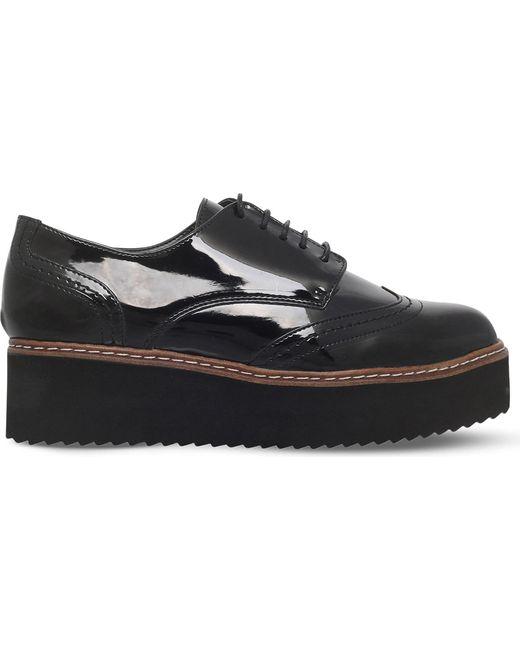 Carvela Kurt Geiger | Black Lucid Patent Flatform Shoes | Lyst
