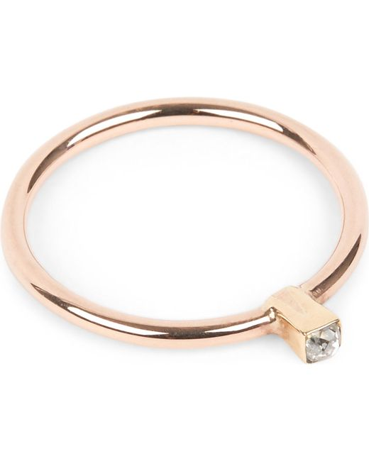 Annina Vogel | Metallic 9 Carat Rose Gold Solitaire Diamond Ring | Lyst