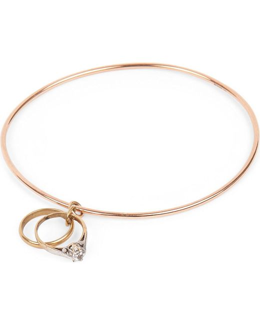 Annina Vogel | Metallic 9ct Gold Rings Bangle | Lyst