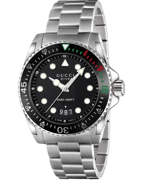 Gucci - Black Ya136208 Dive Stainless Steel Watch - Lyst