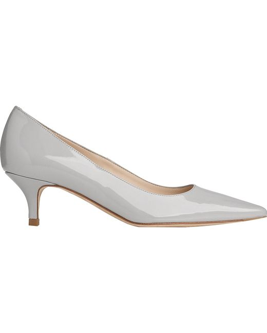 L.K.Bennett - Gray Minu Patent-leather Courts - Lyst
