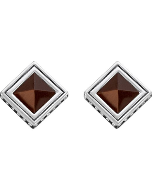Thomas Sabo | Metallic Africa Brown Sterling Silver And Tiger's Eye Earrings | Lyst