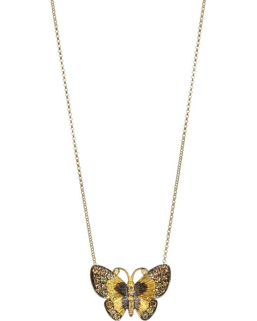 Annoushka   Yellow 18ct Gold And Brown Diamond Butterfly Necklace   Lyst