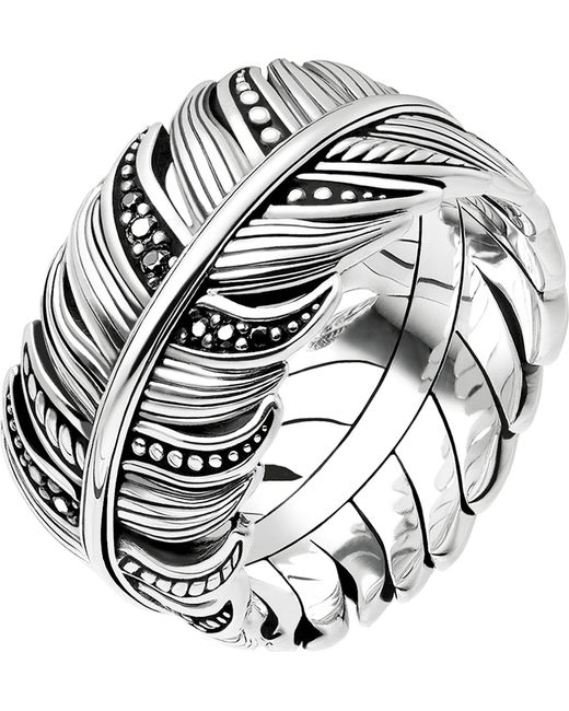 Thomas Sabo - Metallic Rebel At Heart Feather Sterling Silver Ring - Lyst