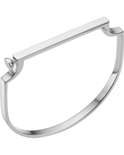 Monica Vinader - Metallic Signature Sterling Silver Bangle - Lyst